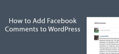 How to addFacebook Comments to WordPress without a plugin