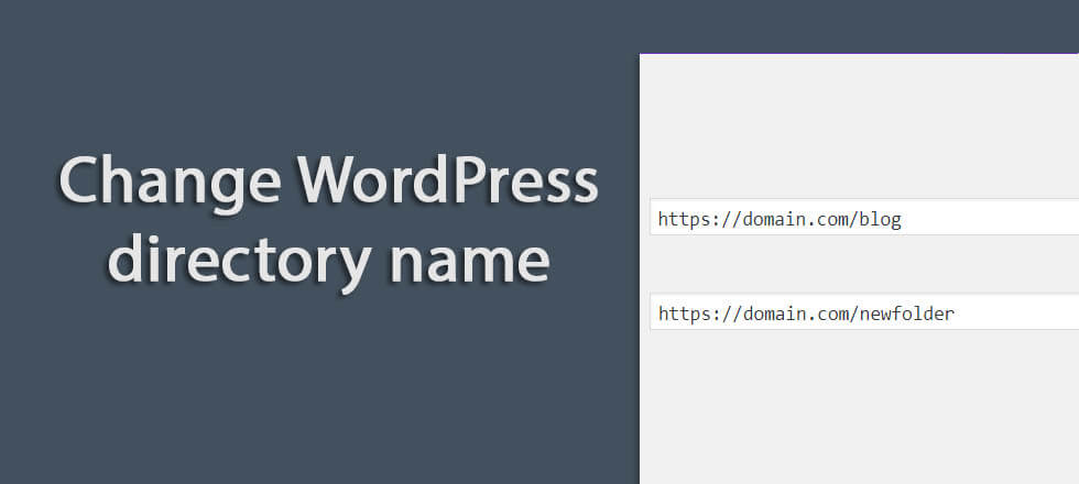 How to change WordPress directory name