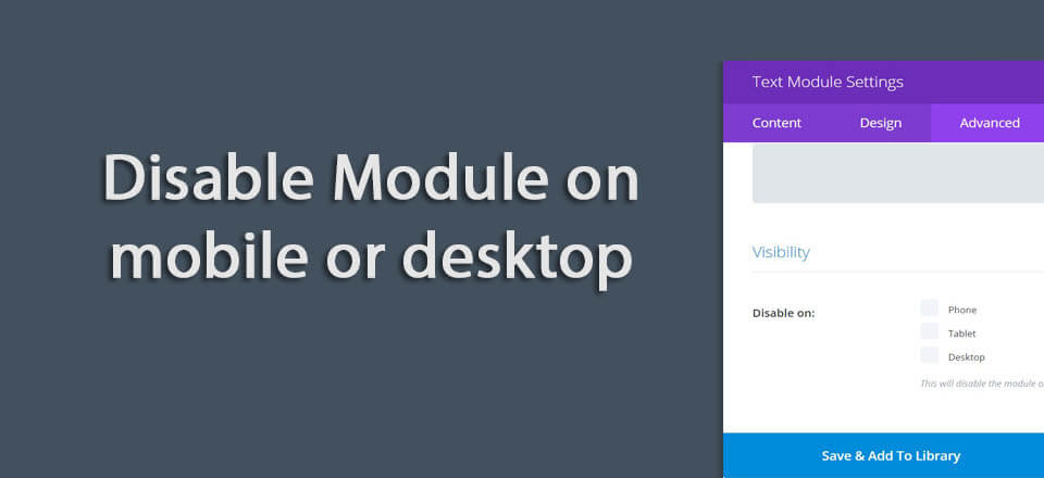 """Quick fix when Divi row section or module """"disable on mobile"""" is not working"""