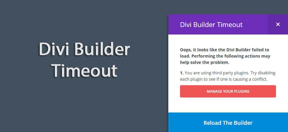 "How to fix ""Divi Builder Timeout"" Error"