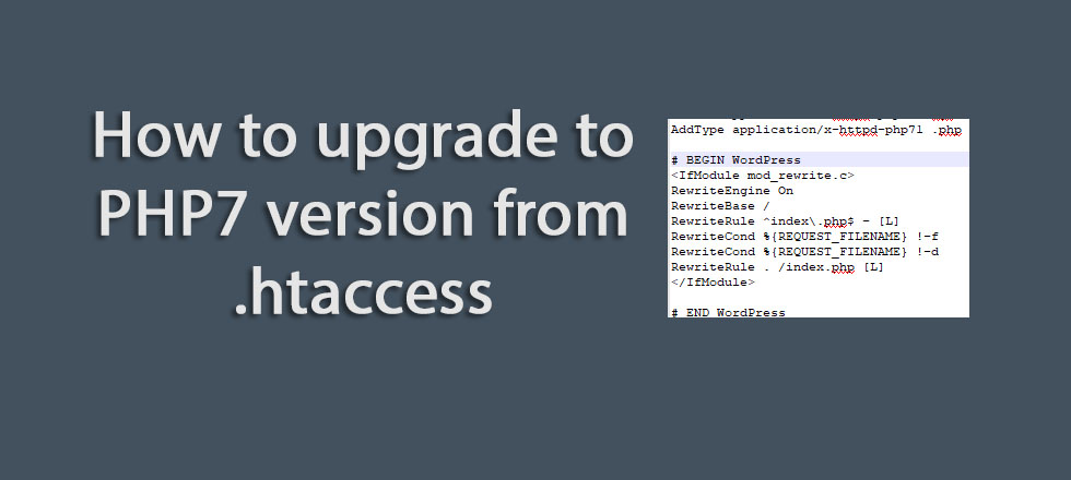 How to upgrade to PHP7 version from .htaccess
