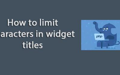 How to limit characters in widget titles